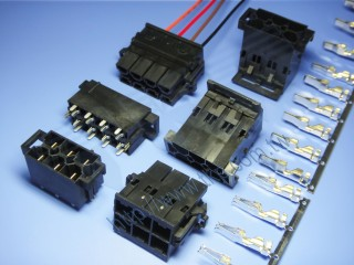 "10.0mm (.393"") 间距-10M1 双排线对线及线对板大电流连接器 - 线对板"