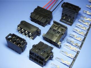 """10.0mm (.393"""") 间距-10M1 双排线对线大电流连接器 - 线对线"""