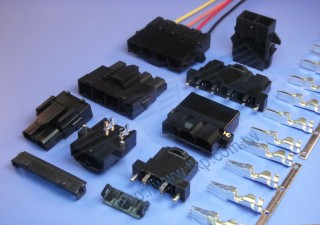 "10.0mm (.393"") 间距-10M1 单排线对线大电流连接器 - 线对线"