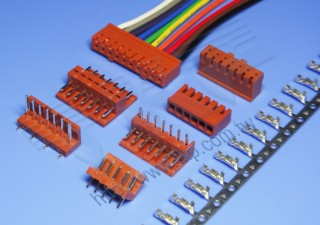 """2.50mm (.098"""") 间距-25J1 线对板连接器 - 线对板"""