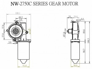 Okenní motor - NW-2750C - NW-2750C