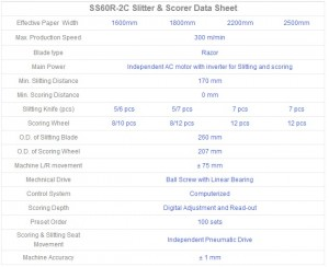 0 Scoring Computerized Slitter & Scorer SS60R-2C