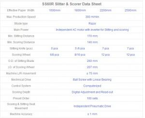 Computerized Slitter & Scorer SS60R