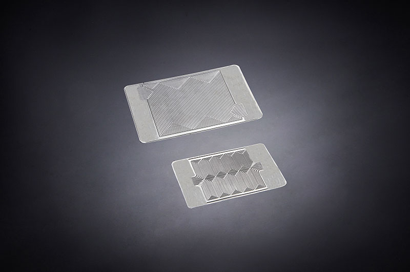 Bipolar metal plate for fuel cell.