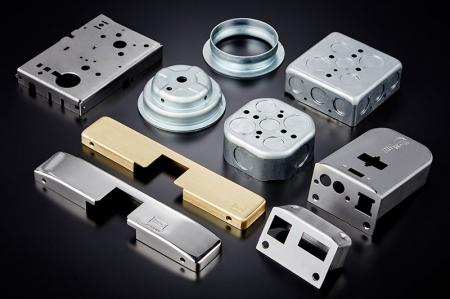 Stamped Door Lock - Parts with various finishes