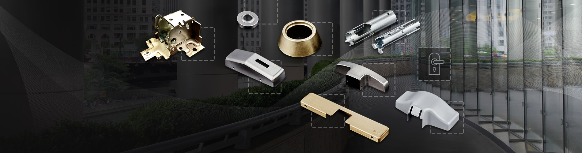 Commercial Grade Door Lock Components