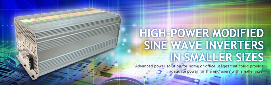High-power modified sine wave inverters in smaller sizes
