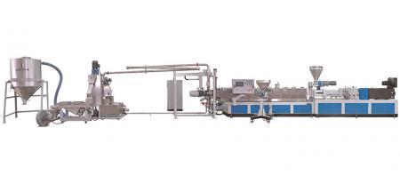Co-rotating / twin screw type pelletizer