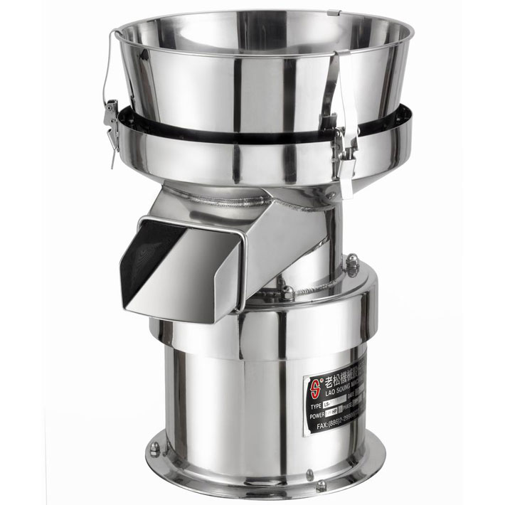 Tabletop noiseless compact sieve