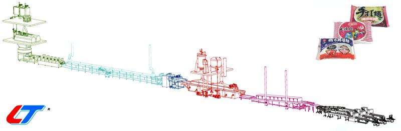Linha de produção de macarrão instantâneo de saco automático (macarrão não dobrado) -  | Macarrão Não Dobrado - Linha de Produção de Macarrão Instantâneo com Saco Automático