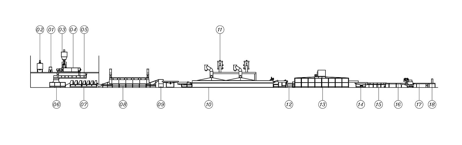 Высокоскоростная автоматическая линия по производству лапши быстрого приготовления (сложенная лапша) - ЛТИ-900 | Автоматическая линия по производству лапши быстрого приготовления_Сложенная лапша