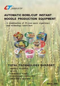 Автоматическое оборудование для производства лапши быстрого приготовления в мисках / чашках