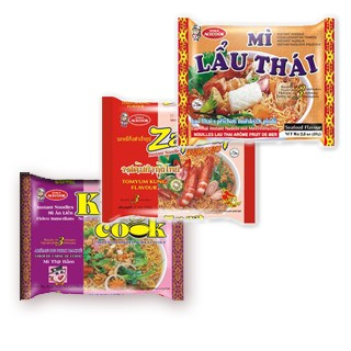 Bags of Instant Non-Folded Noodles