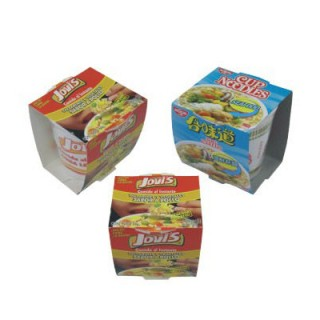 Bowl / Cup of Instant Noodles with Packaging