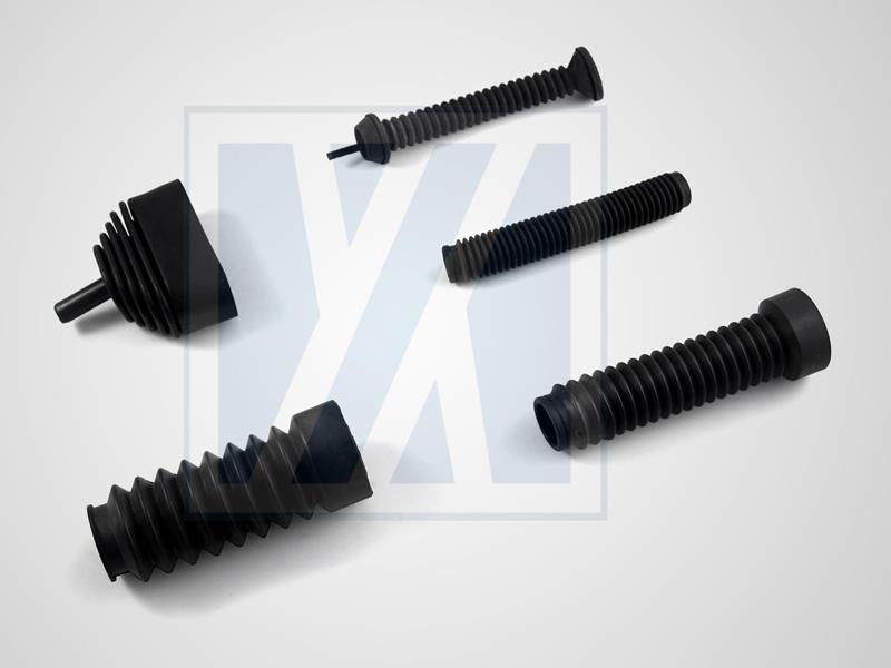 橡膠防塵套, 伸縮套管類 - 進出氣橡膠導管