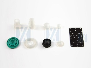 Partie de silicone médical - Couvercle en caoutchouc de la console de plongée, couvercle en caoutchouc du manomètre de plongée, couvercle de l'appareil, bracelet de montre et bracelet de support, tube à air.