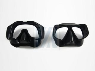 Máscara de buceo, calibre - Cubierta de goma de la consola de buceo, cubierta de goma del manómetro de buceo, cubierta del aparato, correa de reloj y correa de soporte.
