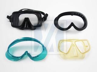 Masque de plongée, jauge - Couvercle en caoutchouc de la console de plongée, couvercle en caoutchouc du manomètre de plongée, couvercle de l'appareil, bracelet de montre et bracelet de support.