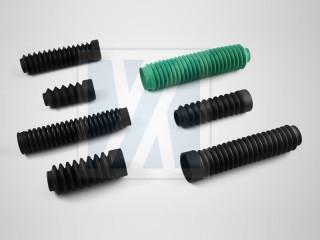 橡胶防尘套, 伸缩套管类