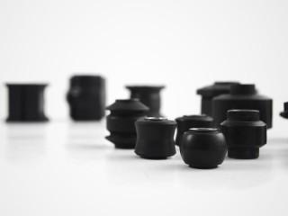 Incollaggio gomma-metallo - Boccola in gomma, paraurti