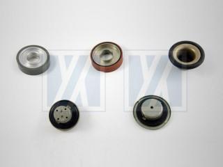 Incollaggio gomma-metallo - Ruota in gomma, tappo del serbatoio