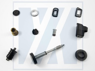 Rubber to Metal Bonding - Custom molded rubber parts
