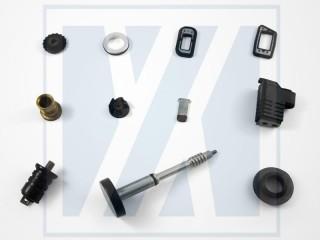 Incollaggio gomma-metallo - Parti in gomma stampate personalizzate