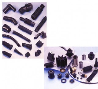 Piezas de caucho para máquinas y motores