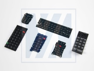 导电矽胶, 按键 - 导电橡胶矽胶制品