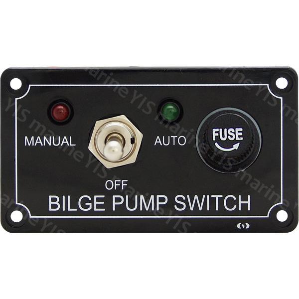 3-Way Bilge Pump Switch Panel Auto//Off//Manual Rocker Switch 12 volt