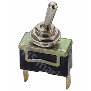 T-13 Brass Toggle Switch - T-1325P 2P SPST Toggle Switch (Quick Terminal)