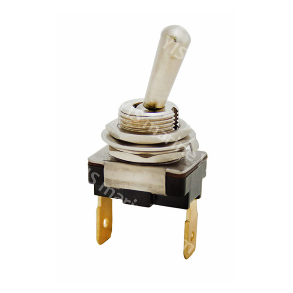 T-1331 Mini Body Brass Toggle Switch - T-1331P (Quick Terminal)