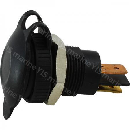 DIN Socket with Cap - AS213-Panel Mount DIN Socket with Anti-splash Cap