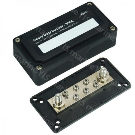 Heavy-Duty Bus Bar Box - BF433-Heavy-Duty Module Design Bus Bar Box with 2 x M10 Terminal Studs & 6 x M5 Screws