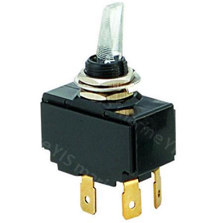 Illuminated Toggle Switch Series - C-66 Illuminated Toggle Switch (Quick Terminal)