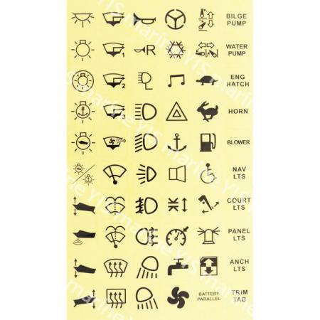Label Stickers for C-7 Switches - Stickers with 60 assorted labels