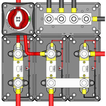 Сверхмощный блок предохранителей и шинные блоки модульной конструкции