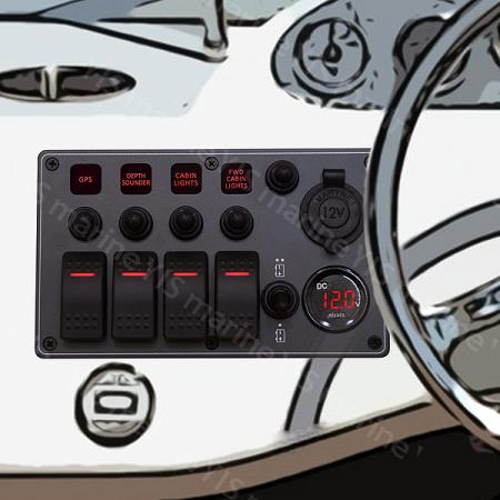 C-7 Aluminum Water-resistant Switch Panel