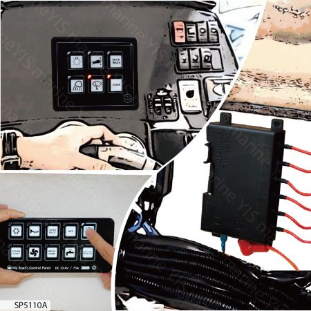 Membrane Touch Control Panel with Remote Control Box