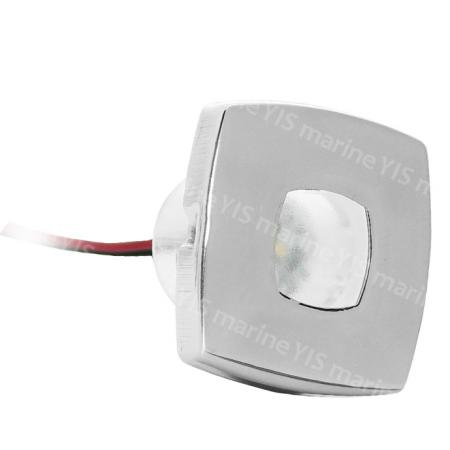 LED Step Light (Square) - LS111-LED Step Light with Stainless Steel Faceplate