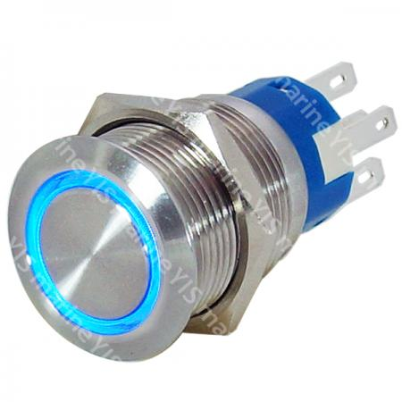 Anti-Vandal Stainless Steel Push-Button Switch - PB4212T-B