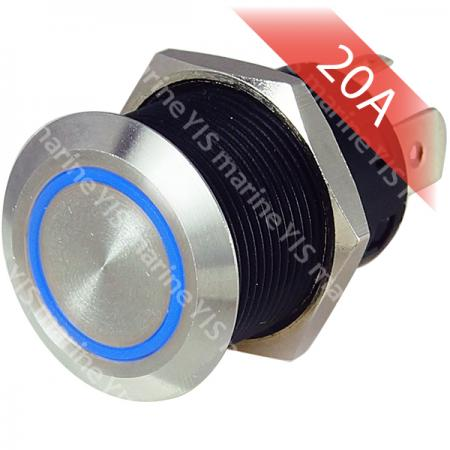 Large Current Stainless Steel Push-Button Switch - PB4411T-B
