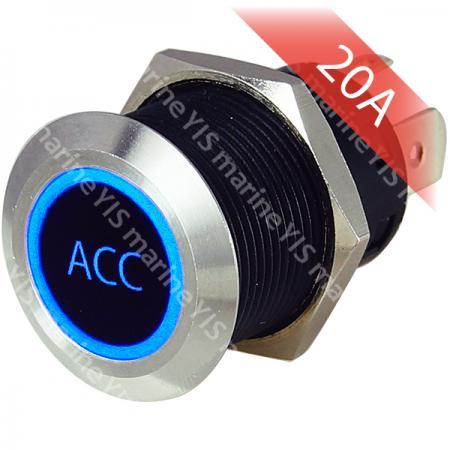 Interruptor de botón pulsador actual grande de acero inoxidable - PB4511T-B