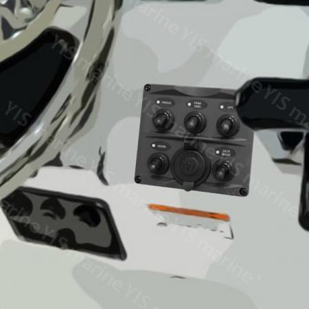 Painel de interruptor de alavanca de design moderno