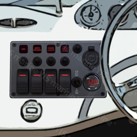C-7 Aluminium Vattentät Switch Panel