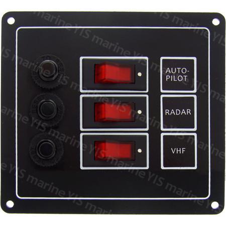 SP1113P-3P Классическая панель переключателей - SP1113P-3P Классическая панель кулисного переключателя с автоматическими выключателями (черная)