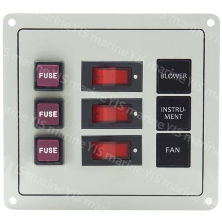 SP1123F-3P Классическая панель переключателей - SP1123F-3P Классическая панель кулисного переключателя с предохранителями (белая)