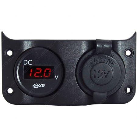 Wave Design Switch Panel - SP1220GP Wave Design Panel (Digital Voltmeter & Power Outlet)