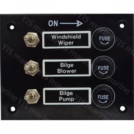 3P Toggle Switch Panel - SP2013F-3P Bakelite Toggle Switch Panel with Fuses