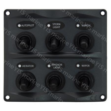 Панель тумблера SP2116-6P - SP2116-6P Панель тумблера современного дизайна (темно-серая)